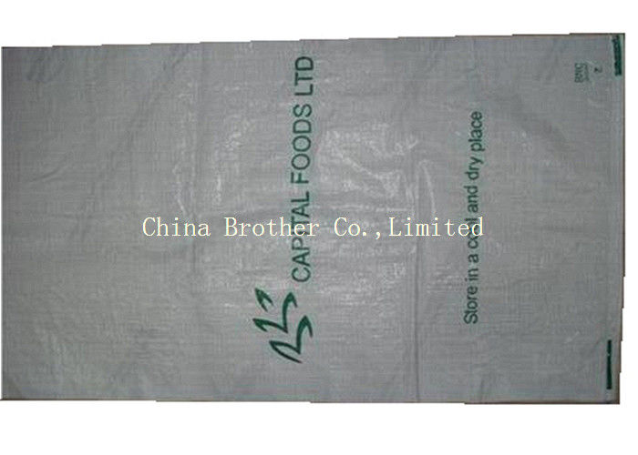 Heat Cut Top Flour PP Woven Sack Bags Non Leakage Waterproof For Agriculture