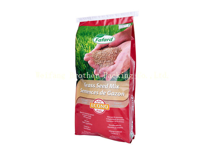 Packing Rice / Flour BOPP Laminated PP Woven Bags Temperature Resistant